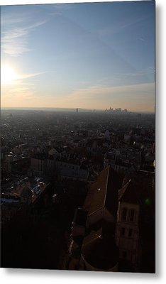 View From Basilica Of The Sacred Heart Of Paris - Sacre Coeur - Paris France - 011315 Metal Print by DC Photographer