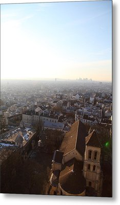 View From Basilica Of The Sacred Heart Of Paris - Sacre Coeur - Paris France - 011316 Metal Print by DC Photographer