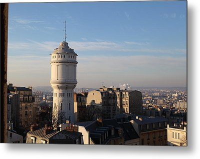 View From Basilica Of The Sacred Heart Of Paris - Sacre Coeur - Paris France - 01132 Metal Print by DC Photographer