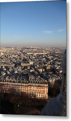 View From Basilica Of The Sacred Heart Of Paris - Sacre Coeur - Paris France - 011330 Metal Print