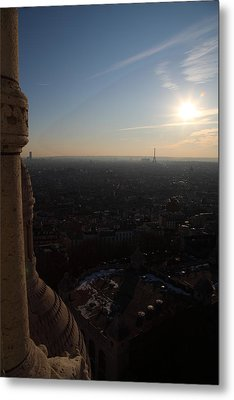 View From Basilica Of The Sacred Heart Of Paris - Sacre Coeur - Paris France - 01139 Metal Print by DC Photographer
