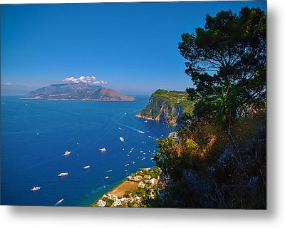 View From Capri Metal Print by Dany Lison