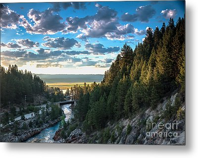 View From Cascade Dam Of The North Fork Of The Payette River Metal Print by Robert Bales