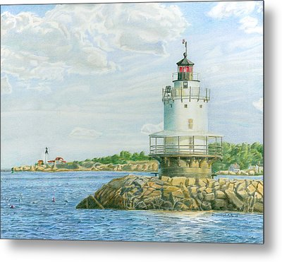 View From Casco Bay Ferry Metal Print by Dominic White