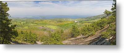 View From Dorr Mountain Over Great Meadow Acadia National Park Maine Metal Print by Keith Webber Jr