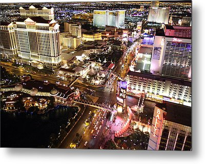 View From Eiffel Tower In Las Vegas - 01131 Metal Print by DC Photographer