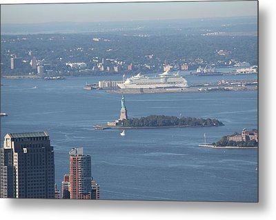 View From Empire State Building Metal Print by David Grant