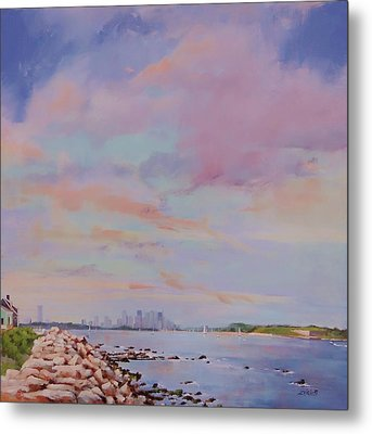 View From Hull Metal Print by Laura Lee Zanghetti
