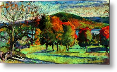 View From Kripalu Towards Lake Mahkeenac Metal Print by Linda Novick