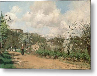 View From Louveciennes, 1869-70 Oil On Canvas Metal Print