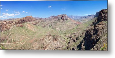 View From Mirador De Fataga Metal Print by Panoramic Images