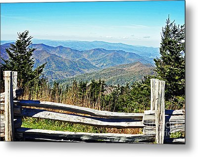 View From Mt. Mitchell Summit Metal Print