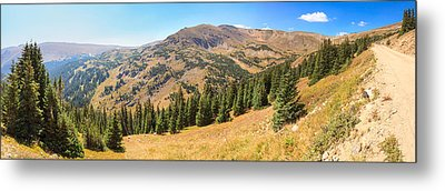 View From Old Fall River Road Metal Print by Panoramic Images