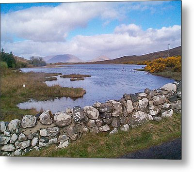 View From Quiet Man Bridge Oughterard Ireland Metal Print by Charles Kraus