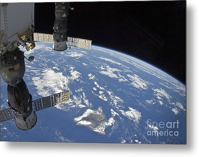 View From Space Showing Part Metal Print by Stocktrek Images