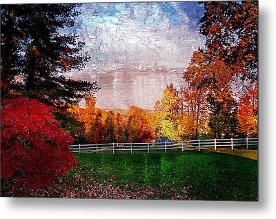 View From Sugarland Heights Metal Print by Julie Dant