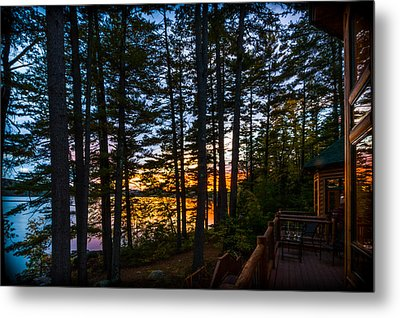 View From The Deck Metal Print by Karen Stephenson