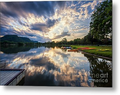 Metal Print featuring the photograph View From The Dock by Kari Yearous