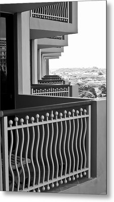 View From The Hotel Balcony Metal Print by Wayne King