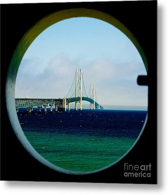 View From The Mackinac Light Metal Print by Nick Zelinsky