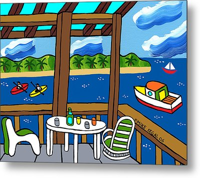 View From The Porch - Cedar Key Metal Print by Mike Segal