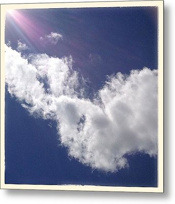 View From The Sunroof Today. Just Metal Print by Teresa Mucha