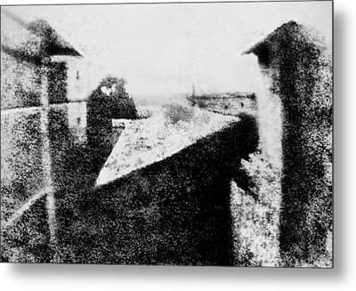 View From The Window At Le Gras Metal Print
