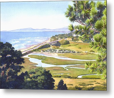 View From Torrey Pines Del Mar Metal Print by Mary Helmreich