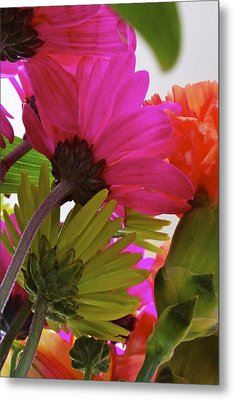 View From Underneath A Bouquet Of Flowers Metal Print by Jennifer Lamanca Kaufman