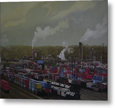 View From Viaduct Metal Print by Thu Nguyen