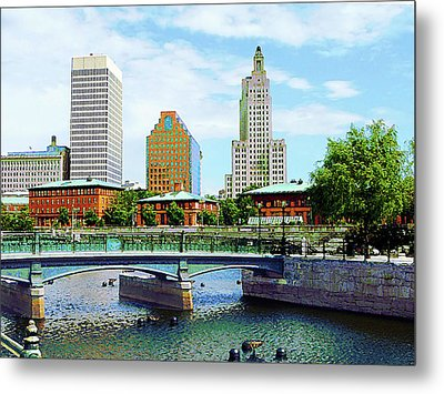 View From Waterplace Park Providence Ri Metal Print by Susan Savad