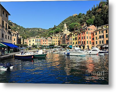 view in Portofino Metal Print by Antonio Scarpi