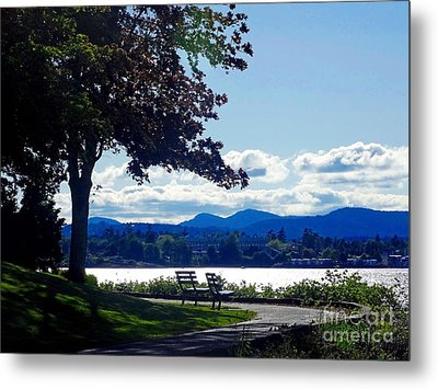 View In Victoria B C Canada Metal Print by Gena Weiser