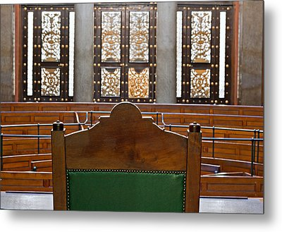 View Into Courtroom From Judges Chair Metal Print by Ken Biggs