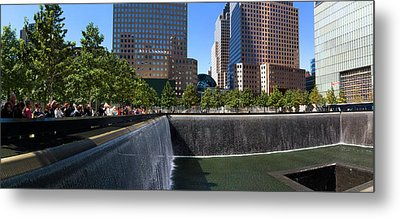 View Of 911 Memorial, Manhattan, New Metal Print by Panoramic Images