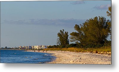 View Of A Beach, Naples, Collier Metal Print by Panoramic Images