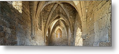View Of Arches And Ceiling Of An Old Metal Print