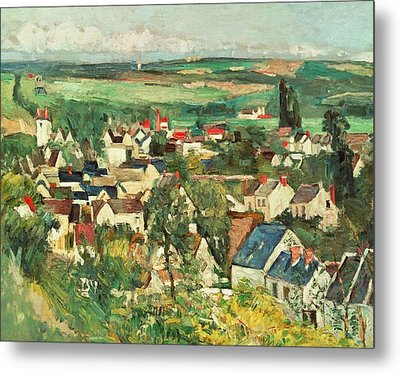 View Of Auvers From Above Metal Print by Paul Cezanne