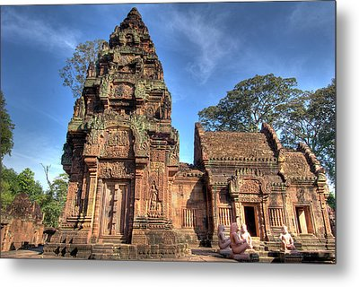 View Of Banteay Srei, Angkor, Siem Reap Metal Print