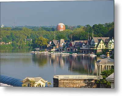 View Of Boathouse Row  Metal Print by Bill Cannon