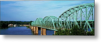 View Of Bridge Over Mississippi River Metal Print by Panoramic Images
