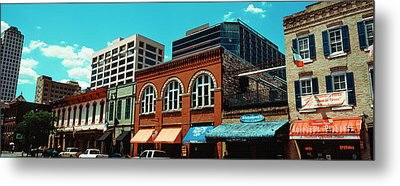 View Of Buildings On 6th Street Metal Print by Panoramic Images