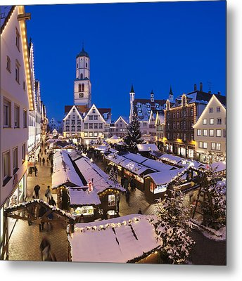 View Of Christmas Fair At St. Martins Metal Print by Panoramic Images