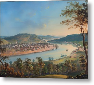 View Of Cincinnati From Covington Metal Print by Mountain Dreams