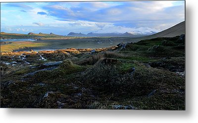 View Of Clogher Beach And The Three Sisters Metal Print by Barbara Walsh