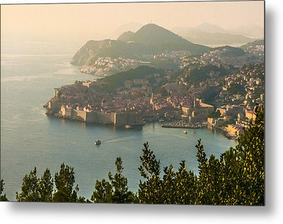 View Of Dubrovnik Peninsula Metal Print by Phyllis Peterson