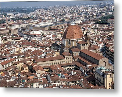 View Of Florence From Brunelleschi's Dome Metal Print by Melany Sarafis