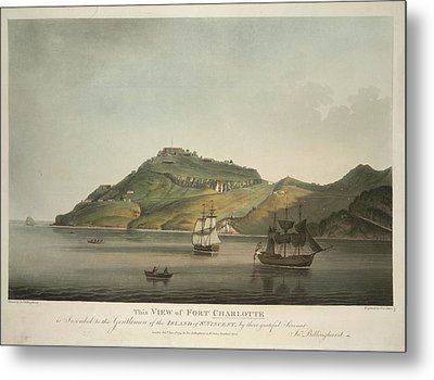 View Of Fort Charlotte Metal Print by British Library