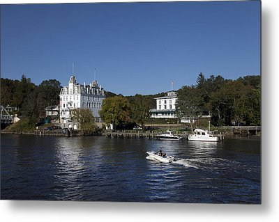 View Of Goodspeed Opera House In East Haddam  From The Connecticut Rive Metal Print