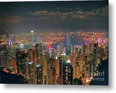 View Of Hong Kong From The Peak Metal Print by Lars Ruecker